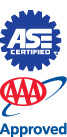 ASE Certified and AAA Approved